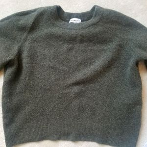 Cropped Community wool and yak sweater